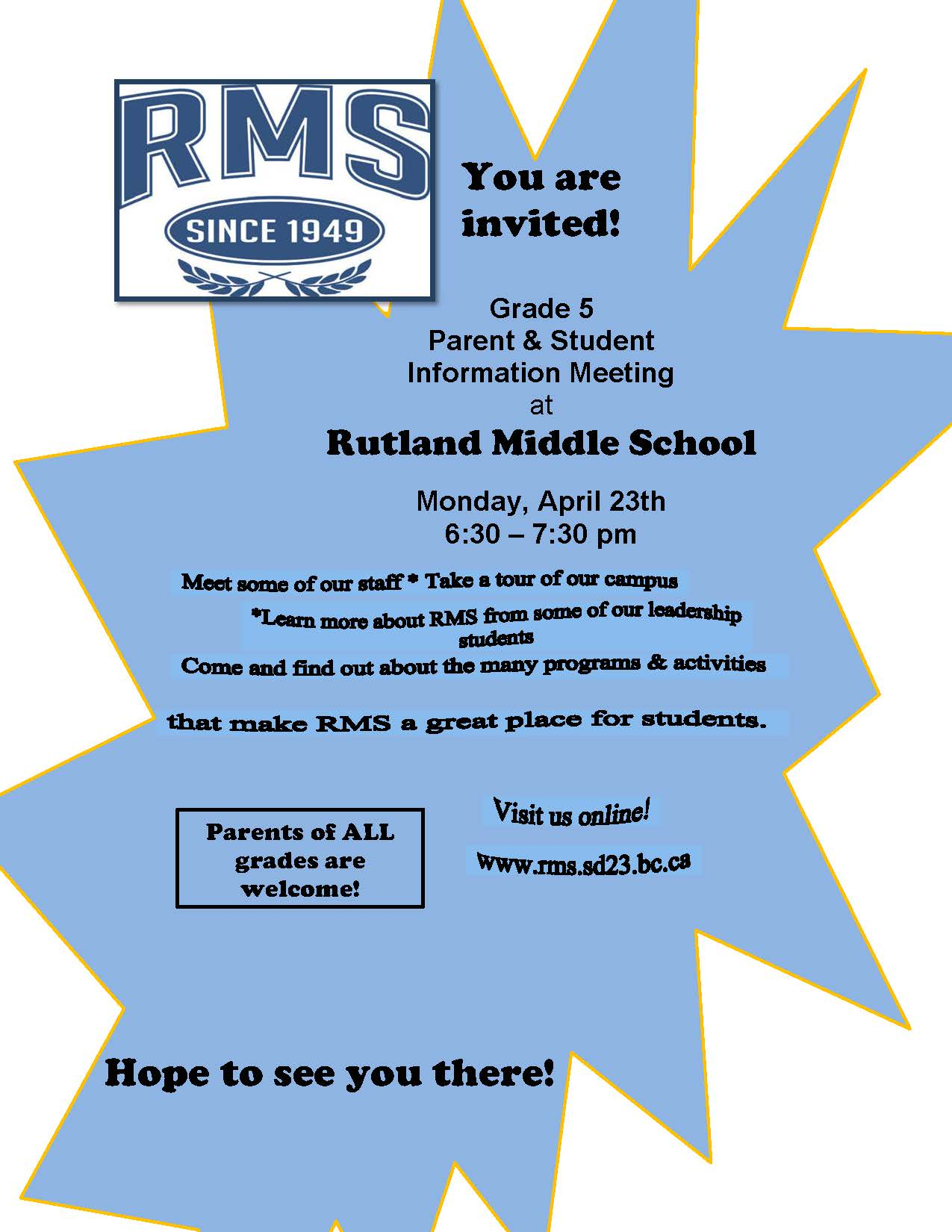 RMS Parent and Student Information Meeting